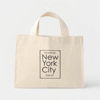Bolso De Tela Diminuto Lo que, New York City para siempre