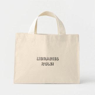 Bolso De Tela Diminuto ¡Regla de bibliotecas! Totebag