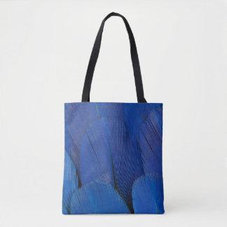 Bolso De Tela Diseño azul de la pluma del Macaw del jacinto