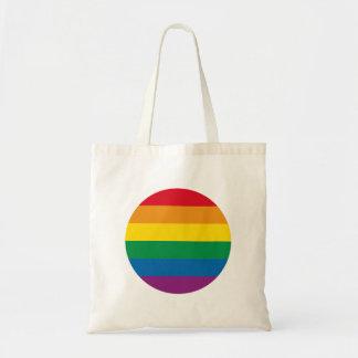 Bolso De Tela Diseño colorido del arco iris del orgullo el |