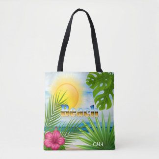 Bolso De Tela Diseño de la playa de la salida del sol