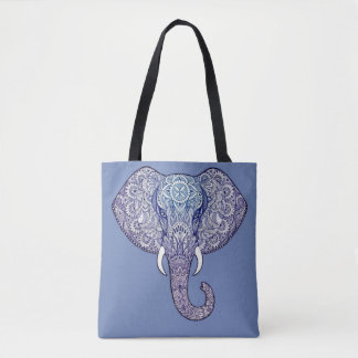 Bolso De Tela Diseño del arte del elefante de la alheña