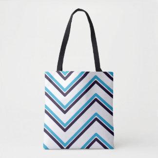 """Bolso De Tela Diseño geométrico del """"zigzag"""" -"""