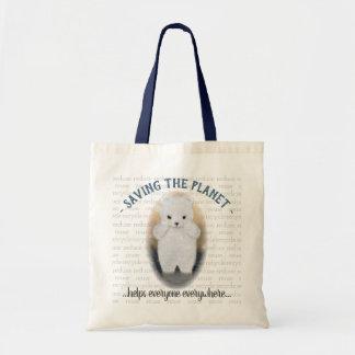 Bolso De Tela Diseño triste de Eco del oso polar del bebé