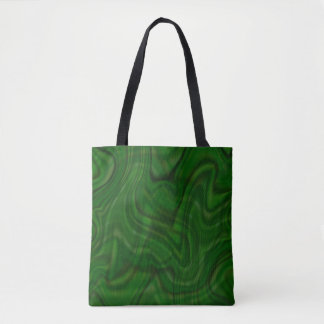 Bolso De Tela Diseño verde abstracto del remolino