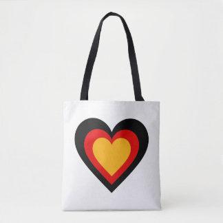 Bolso De Tela El alemán/el corazón de Alemania bandera-inspiró