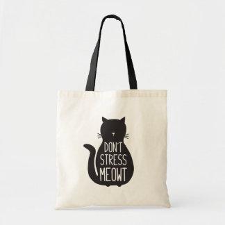 Bolso De Tela El amante divertido del gato no subraya Meowt