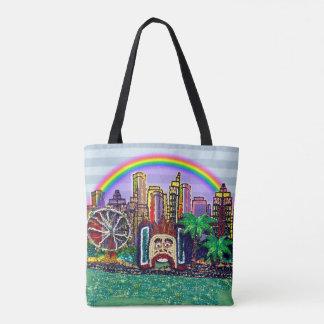 Bolso De Tela El arco iris de Luna Park Sydney por la lentejuela