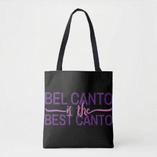 Bolso De Tela El canto de belio ha el mejor canto todo terminado
