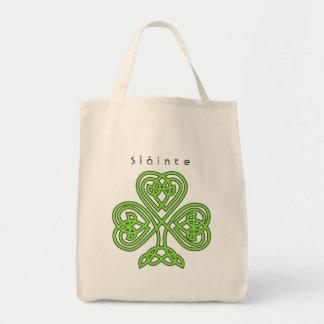 Bolso De Tela El día del diseño de St Patrick céltico del trébol