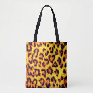 Bolso De Tela El falso leopardo exótico mancha el estampado de