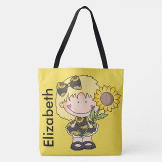 Bolso De Tela El girasol personalizado de Elizabeth