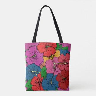 Bolso De Tela El hibisco florece #5