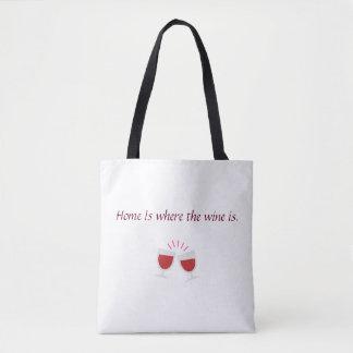 Bolso De Tela El hogar es donde está el vino