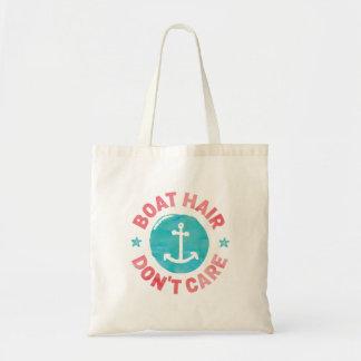 "Bolso De Tela El ""pelo del barco no cuida"""