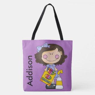 Bolso De Tela El tote personalizado creyón de Addison