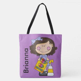Bolso De Tela El tote personalizado creyón de Brianna