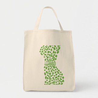 Bolso De Tela El verde es tote de moda del diseñador