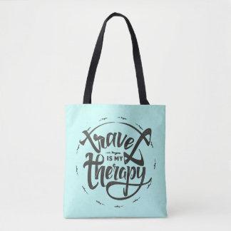 Bolso De Tela El viaje es mi terapia