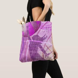 Bolso De Tela el voleibol femenino de las mujeres púrpuras