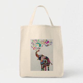 Bolso De Tela Elefante de la mandala