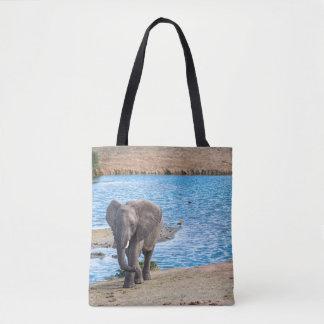 Bolso De Tela Elefante en el lago