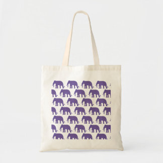 Bolso De Tela Elefantes púrpuras