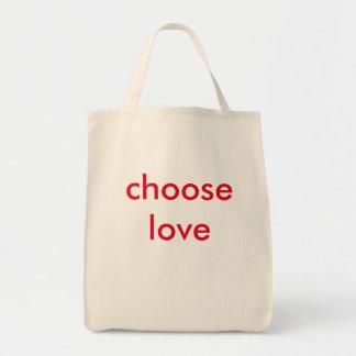 Bolso De Tela elija el amor