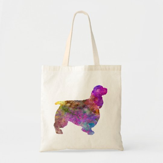 Bolso De Tela English Springer Spaniel 01 in watercolor 2