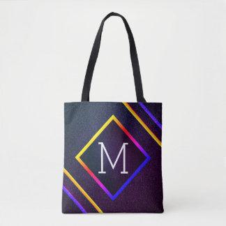 Bolso De Tela Esquemas elegantes de la púrpura y del arco iris
