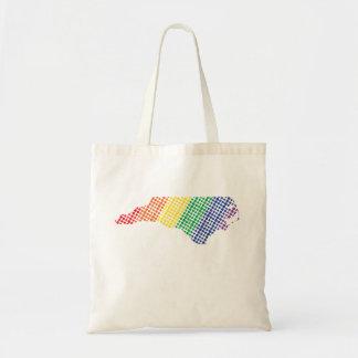 Bolso De Tela Estado del arco iris de Carolina del Norte