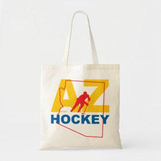 Bolso De Tela Estado del jugador de hockey de AZ Arizona