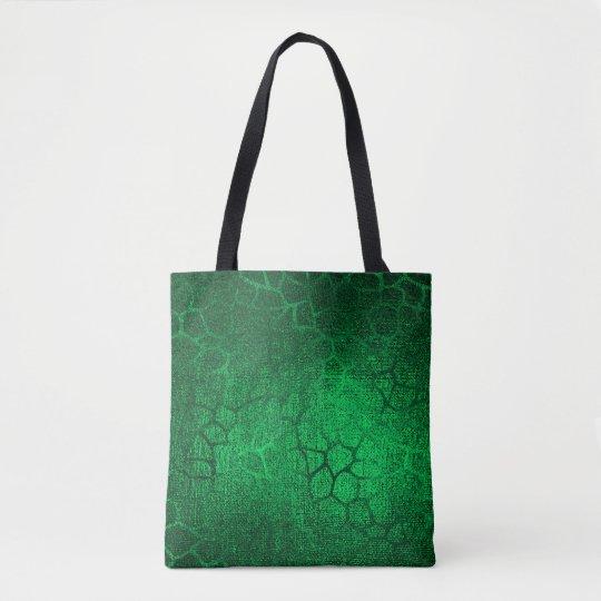 Bolso De Tela Estampado de animales verde