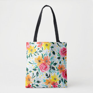 Bolso De Tela Estampado de flores colorido femenino de la