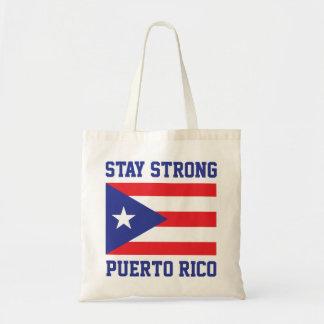 Bolso De Tela Estancia Puerto Rico fuerte después del huracán