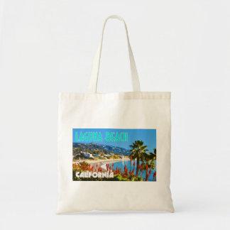 Bolso De Tela Estilo del poster del viaje del vintage del Laguna