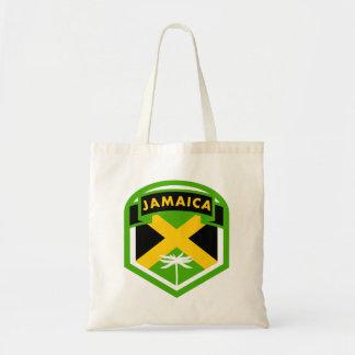 Bolso De Tela Estilo jamaicano del escudo de la bandera