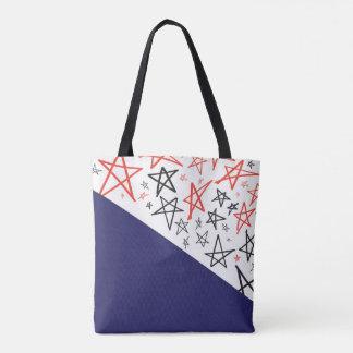 Bolso De Tela Estrellas patrióticas dibujadas mano