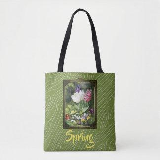 Bolso De Tela Extravagancia de la flor de la primavera del