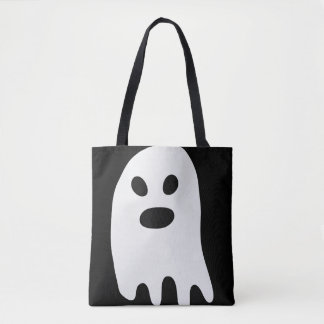 Bolso De Tela Fantasma simple del blanco de Halloween