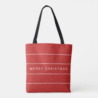Bolso De Tela Felices Navidad modernas simples