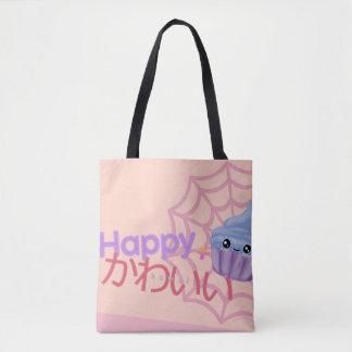 Bolso De Tela Feliz lindo + Magdalena de Kawaii