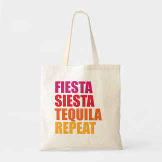 Bolso De Tela Fiesta, siesta, vacaciones de Bachelorette del