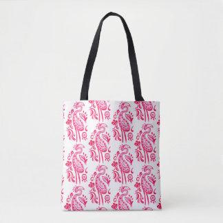 Bolso De Tela Flamenco rosado de Paisley