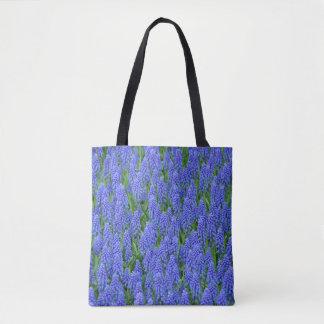 Bolso De Tela Flores azules del muscari