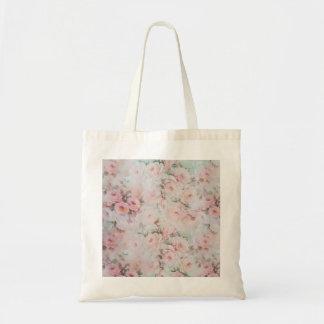 Bolso De Tela Flores color de rosa elegantes del trullo