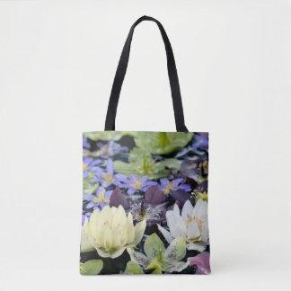 Bolso De Tela Flores coloridas de los hellebores