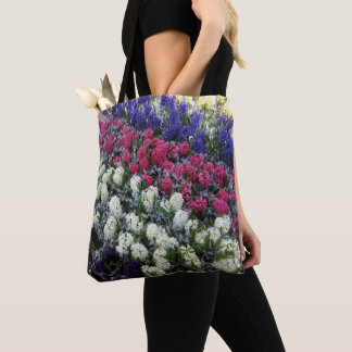 Bolso De Tela Flores coloridas del jacinto