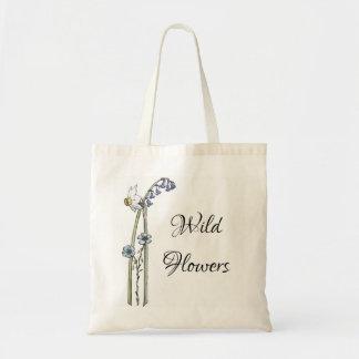 Bolso De Tela Flores salvajes pintadas a mano