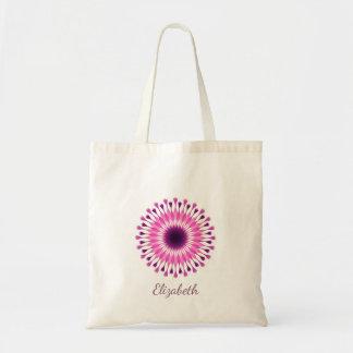 Bolso De Tela Florista rosado femenino lindo personalizado